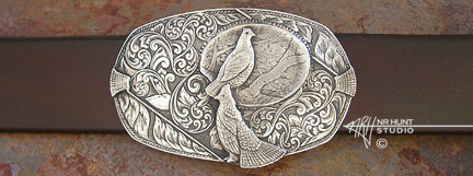 Solid Sterling Silver Trophy-Style Belt Buckle
