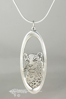 Solid Sterling Silver 'Leopard' Pendant