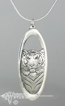 Solid Sterling Silver 'Tiger' Pendant