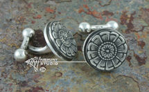 Hand Engraved Sterling Silver Ball-End Cufflinksl 'Hinge Pin No. 1 May, 2016'