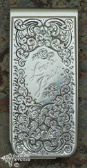 Hand Engraved Money Clip, 'Love Jess' '1.oct13'