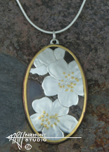 Handcrafted Pendant 'Apple Blossoms'