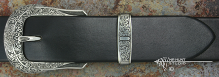 Engraved Silver Buckle