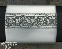 Engraved Silver Belt Buckle