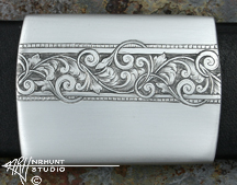 Engraved Sterling Silver Belt Buckle