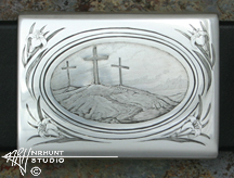 Engraved Silver Channel Buckle