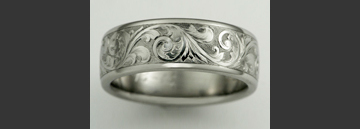 Custom Engraved Titanium Wedding Ring