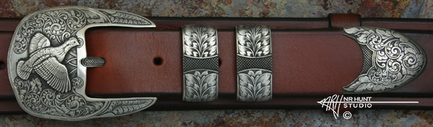 Solid Sterling Silver Buckle Set