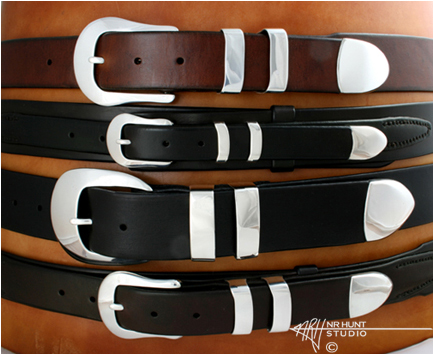 Stack of Varying Widths of Belt Straps